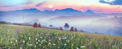 Bergketens van de Oekraïne Stock Afbeelding