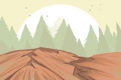 Bergketenscène Royalty-vrije Stock Afbeeldingen