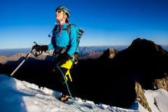 Bergklättring Royaltyfria Bilder