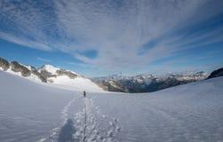 Bergklättring i morgonen 2 Royaltyfri Bild