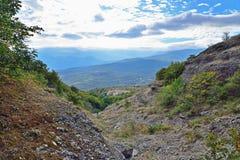 Bergkloof in de vallei van spoken Stock Afbeelding