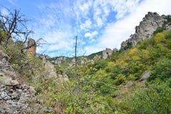 Bergkloof in de vallei van spoken Stock Foto