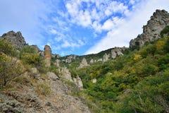Bergkloof in de vallei van spoken Stock Foto's