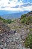 Bergkloof in de vallei van spoken Royalty-vrije Stock Foto's
