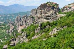 Bergkloster i Meteora, Grekland Royaltyfri Foto