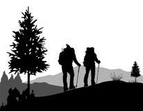 Bergklättring Arkivbild