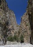 Bergklyftan skapar in Arkivfoto