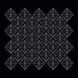 Bergkristallappliquetryck för textilkläder i mode stock illustrationer
