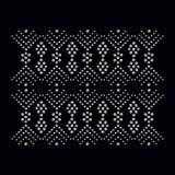 Bergkristallappliquetryck för textilkläder i modelyx stock illustrationer