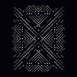 Bergkristallappliquetryck för textilkläder i modelyx Royaltyfri Fotografi