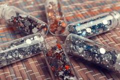 Bergkristaller för manikyr Arkivbilder