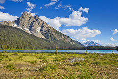 Berglandschaft bei Emerald Lake Lizenzfreies Stockfoto
