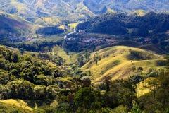 Berglandschaft in Brasilien stockbilder