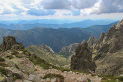 Berglandschaft, Corse, Frankreich Stockfotos