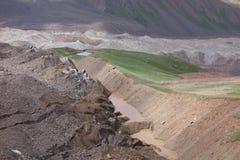 Berglandschaft. Das Dach der Welt Stockbild