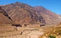 Berglandschaft in den Anden, Argentinien, Südamerika Stockfoto