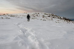Berglandschaft in der Winterzeit in Carphatians Stockbild