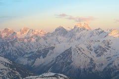 Berglandschaft des Nord-Kaukasus stockbilder