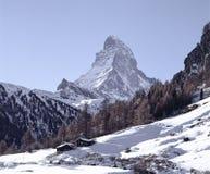 Berglandschaft die Schweiz Wallis Zermatt Snow lizenzfreie stockfotos