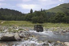 Berglandschaft im Kaukasus Stockfoto