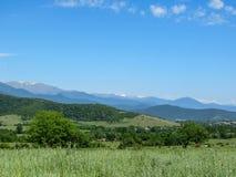 Berglandschaft in Kakheti-Region, populärer touristischer Bestimmungsort in Georgia stockfotografie
