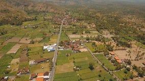 Berglandschaft mit Tal und Dorf Bali, Indonesien Lizenzfreie Stockfotografie