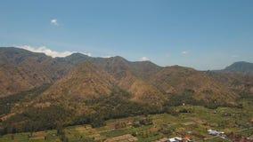Berglandschaft mit Tal und Dorf Bali, Indonesien Lizenzfreie Stockbilder