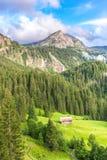 Berglandschaft nahe Gstaad, die Schweiz Stockfotografie