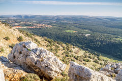 Berglandschaft, oberes Galiläa in Israel Stockfotos