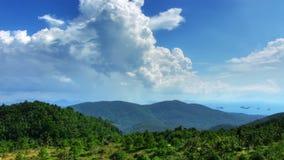 Berglandschafts- und WolkenZeitspanne stock footage