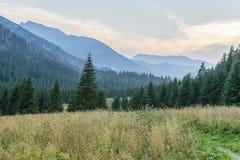 Berglandschaftsabendzeit lizenzfreie stockfotografie