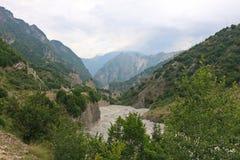 Berglandschap in Azerbeidzjan Stock Foto