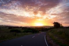 Berglandschap bij schemering in Nieuw Zeeland Royalty-vrije Stock Afbeeldingen