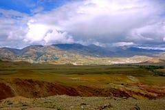 Berglandschap in de bergen van Altai Royalty-vrije Stock Foto's