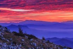 Berglandschap in de Bergen van Buila Vanturarita, Roemenië royalty-vrije stock afbeelding