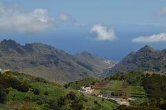 Berglandschap in de Canarische Eilanden van Tenerife Royalty-vrije Stock Foto