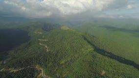 Berglandschap in de Filippijnen stock footage