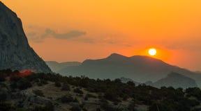 Berglandschap de Krim Stock Fotografie