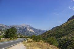 Berglandschap in de de zomerdag royalty-vrije stock afbeelding