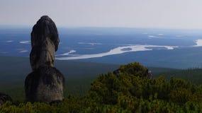 Berglandschap grenzeloos Yakutia - Olonkholand Royalty-vrije Stock Afbeeldingen