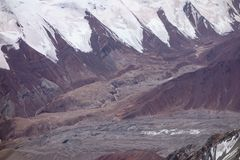 Berglandschap. Het Dak van de Wereld Stock Afbeelding