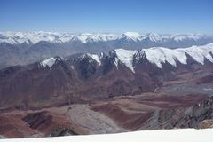 Berglandschap. Het Dak van de Wereld Stock Fotografie