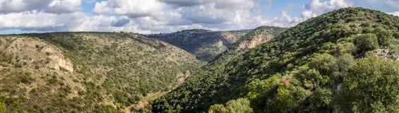 Berglandschap, Hogere Galilee in Israël Stock Foto