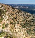 Berglandschap, Hogere Galilee in Israël Royalty-vrije Stock Afbeeldingen