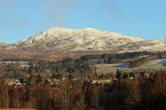Berglandschap in Hooglanden van Schotland Stock Foto's