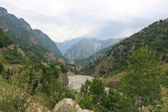 Berglandschap in Ismayilli-gebied van Azerbeidzjan Royalty-vrije Stock Fotografie