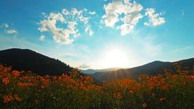 Berglandschap. 4K. VOLLEDIGE HD, 4096x2304. stock videobeelden