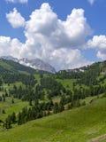 Berglandschap langs de weg aan Sestriere royalty-vrije stock fotografie