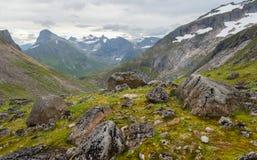 Berglandschap, Noorwegen Stock Foto's