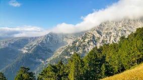 Berglandschap in olympus nationaal park van Griekenland stock foto's